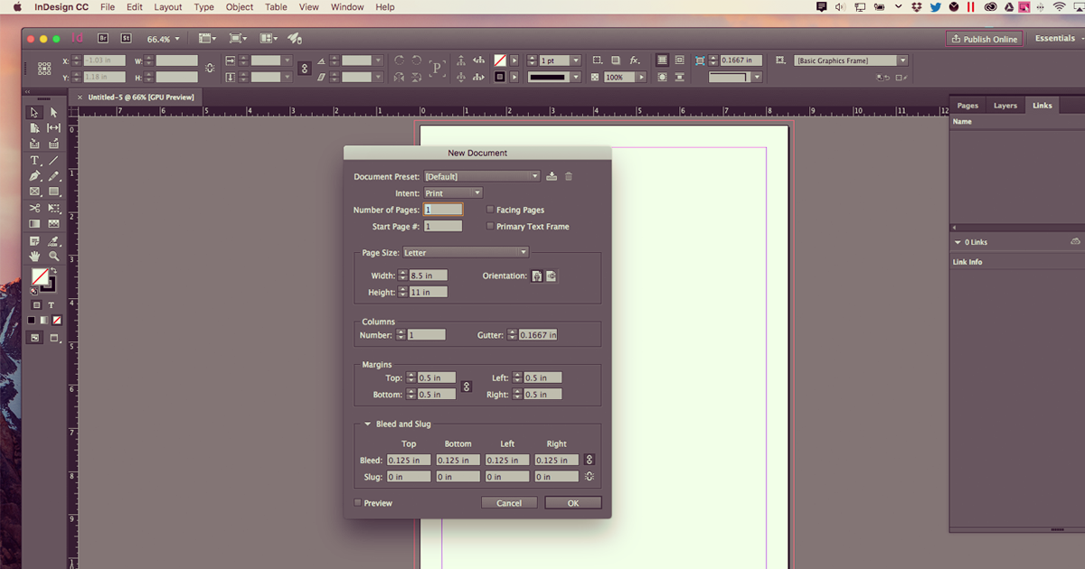 Setting Bleeds in InDesign
